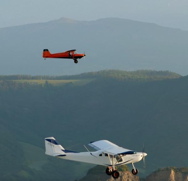 Vols simultanés famille Gap-Tallard (05) Alpes du Sud