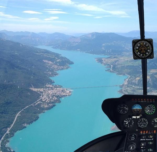 Vol hélicoptère panoramique 20 min (1 à 5 pers) Vallée de Briançon - (St Crépin 05)